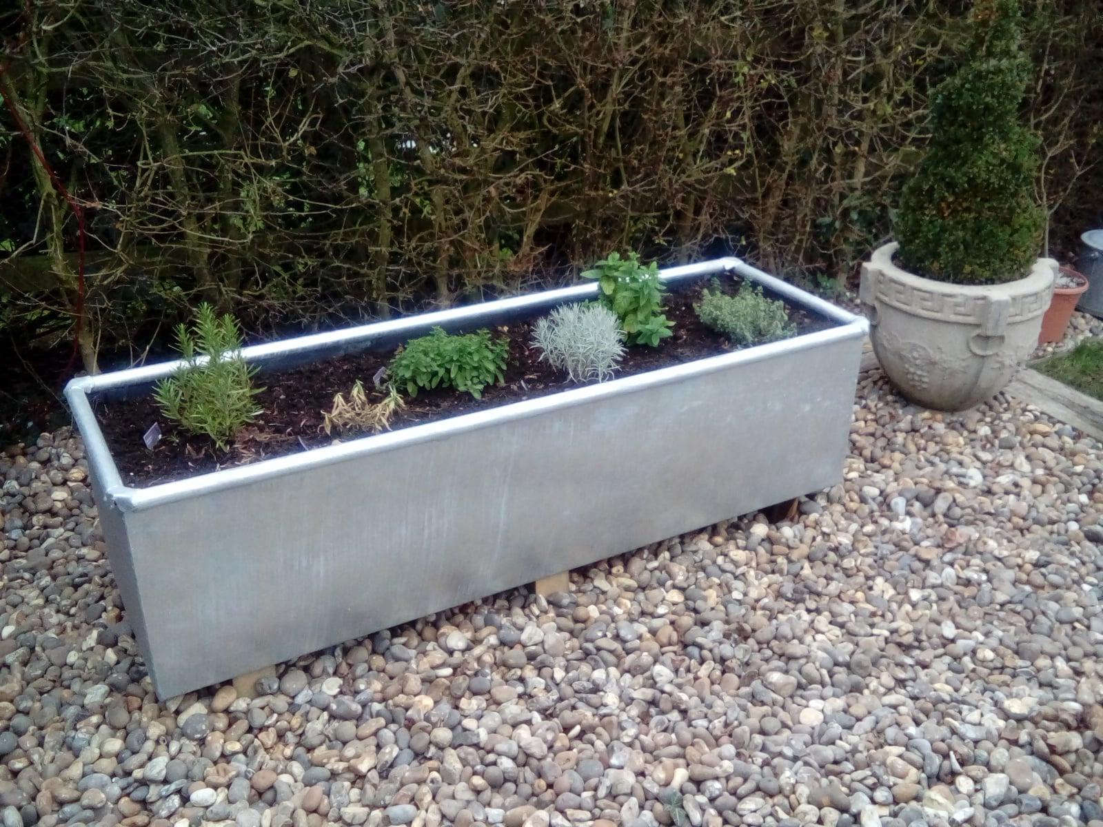Galvanised Trough/Planter